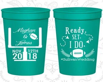 Teal Stadium Cups, Teal Cups, Teal Party Cups, Teal Wedding Cups (394)