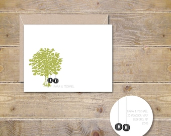 Bridal Shower Thank You Cards, Wedding Thank You Cards, Thank You Cards Wedding, Personalized Thank You Cards, Oak Tree, Tire Swings
