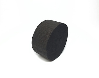 Black Crepe Paper Streamer Roll - 81 Feet Long - Paper Craft Party Supplies