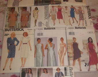 1980s 1990s Ladies Misses Petite Sewing PATTERNS All are Butterick size 12 14 16 Your Choice Top Skirt Dress Shirt Vest Jacket Formal Prom