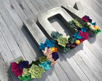 JOY Felt Succulent Wall Hanging