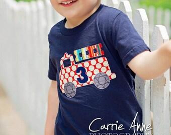 Fire Truck Birthday Shirt, Firetruck Birthday, Fire Engine Birthday, Kids Birthday Shirt, First Second Third Fourth Birthday, First Birthday