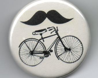 Moustache Ride the Subtle Version Humor   1.25 inch Button