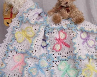 Dragonfly Dreams Crochet Baby Afghan or Blanket Pattern PDF- INSTANT DOWNLOAD.