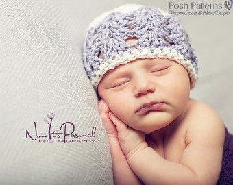 CROCHET PATTERN - Crochet Hat Pattern, Crochet Pattern Baby, Crochet Pattern Hat (6 Sizes Newborn to Adult) - Instant PDF Download 117
