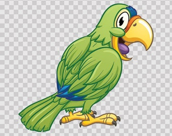 Decal Sticker Happy Parrot  Atv Waterproof Sports car 09998