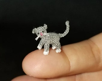 Micro Kitty - Amigurumi Kitty - Miniature Cat - Crochet Toy - Miniature Animal