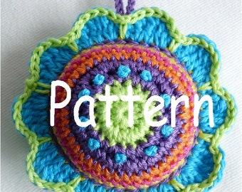 Pattern Pincushion Flower US Terminology (Instant Download)