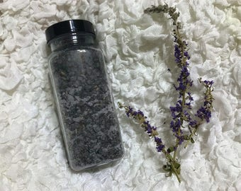 Refreshing Peppermint Lavender Charcoal Detox Bath Salts