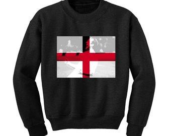 Russia World Cup 2018 Graphic Sweatshirt ENGLAND Flag Football Team Soccer