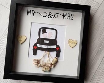 Mr & Mrs Wedding Car Frame