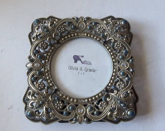 Reduced. Brass to be with rhinestones, picture frame with glass