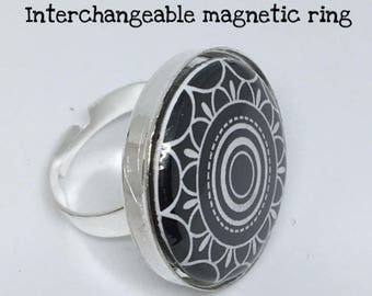 Interchangeable Magnetic Ring with 3 inserts