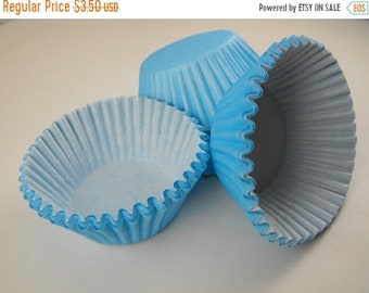 Mothers Day Sale 50 Pc Pretty Light Blue Cupcake Liners 2X1.25 Inch Size Perfect for Parties