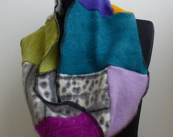 Upcycled hand-dyed cashmere cowl