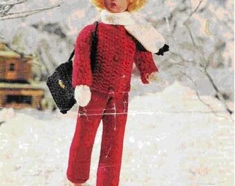 Doll Knitting Pattern, Vintage Knitting Pattern, Sindy Doll Knitting Pattern, Dress Up Doll Knitting Pattern, Vintage Doll Pattern
