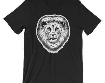 Lion Warrior T-shirt Animal Lover Tee