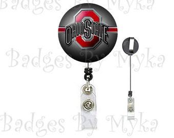 Retractable ID Badge Holder - Ohio State