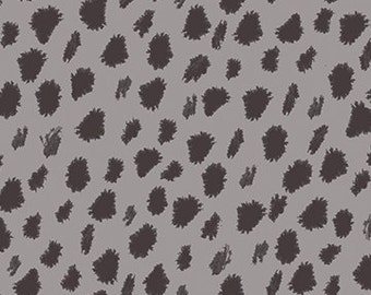 Hen Pals from Benartex - Full or Half Yard Feathered Dot Gray Charcoal
