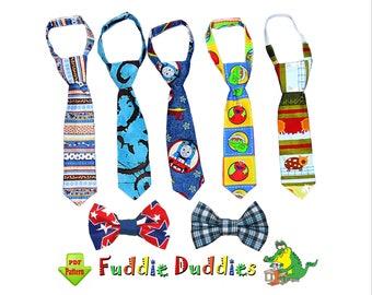 Boys Neck Tie Pattern & Bow Tie Pattern pdf, Baby Necktie Sewing Pattern. Toddler Clothing Sewing Pattern. Tutorial INSTANT DOWNLOAD. Noah