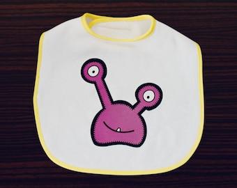 Babua Baby Bib - 'Oli' Purple