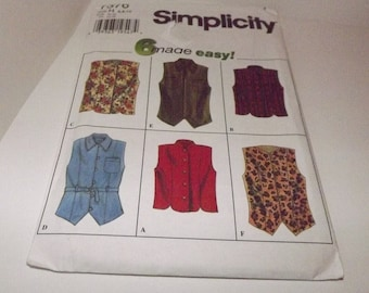 Vintage Simplicity 6 made easy Sewing Pattern 7376 Size H 6,8,10