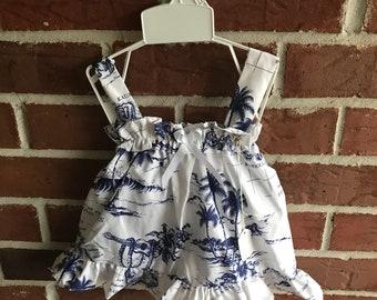 Lauren Taylor Collection/Kailoli Dress and Bloomer Set/ Hawaiian Dress/ 18 month