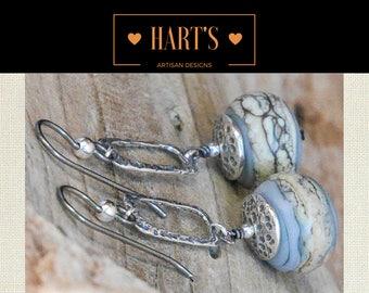 Artisan Sterling Silver and Niobium Earrings