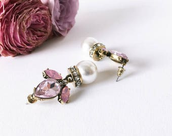 Christmas gift for Mama: Jewelry Earrings Pink