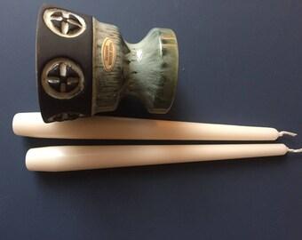 2 Candleholder * * * 1960-70 * * * Danmark * * * 2 CANDLE Holder * * * Frank Ceramics