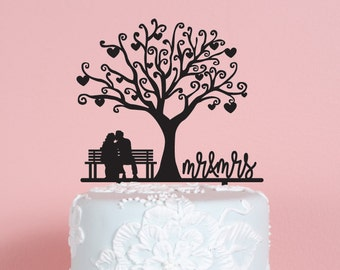 Couple Mr and Mrs Wedding Cake Topper
