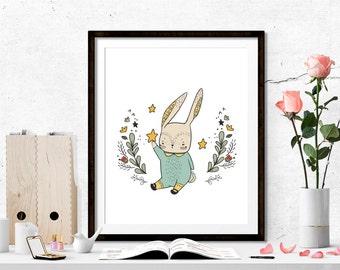 unny printable, cute print, nursery art, Instant Digital download, nursery printable, girls room, baby shower gift, baby room, celebration