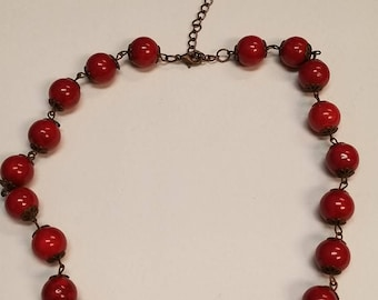 Cherry Bead Necklace