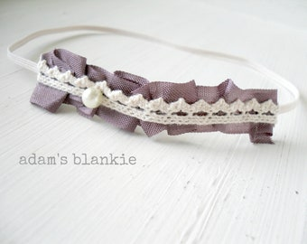 Vintage Berry - Ruffled Purple Plum - Crown Lace - Pearl - Cream Ivory OR YOU CHOOSE Color - Baby Infant Newborn Girls Adults - Photo Prop