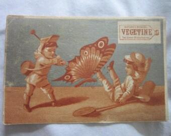 c 1880 Antique Victorian Trade Card Medicine Miracle Cure Vegetine