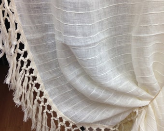 "Knotted Cotton Fringe Trim/5.5""(14 cm) cotton knotted fringe, long fashion fringe, long cotton fringe,"