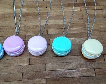 Macaroni Pendants//Jewelry//Accessories//colorful necklaces//pastel colors