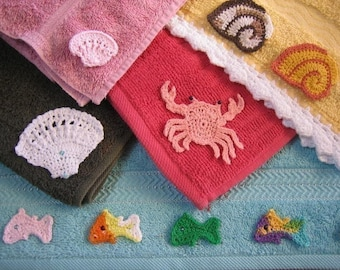 Treasures from the Queensland Beaches and Rockpools - Crochet Patterns for Bookmarks and Motifs