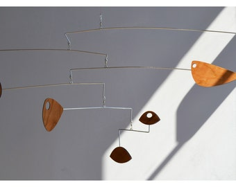Free Shipping on Mid Century Modern Mobile in Cherry
