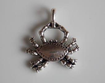 Crab Sea Beach silver charm