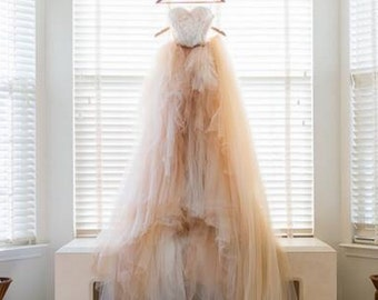 Open Back Wedding Dress, Bohemian Wedding Dress, Tulle Skirt, Boho Wedding Dress, Unique wedding dress, Wedding gown, gown, bridal dresses