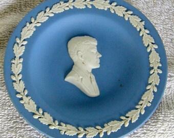 Wedgwood Blue Jasperware JFK Pin Dish