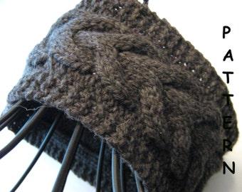 pdf Knitting Pattern Knit Cable Headband Earwarmer Lucky Horseshoe