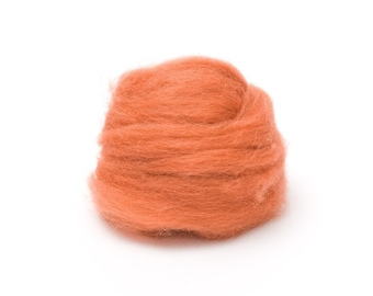 Copper Wool Roving for Felting - 1 oz. Corriedale