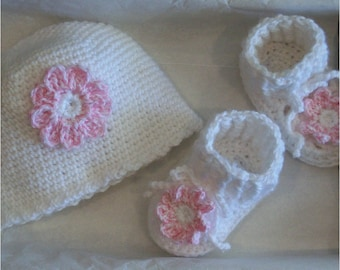 Baby Hat and Bootie Gift Set