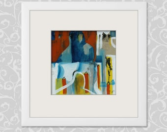 Painting 20/20 cm... 7,87/7,87 inch art, abstract painting