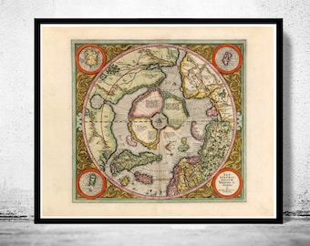 Old Map of North Pole 1609