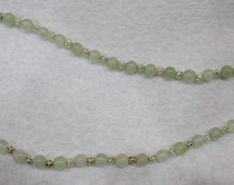 Sterling Silver and Jade Necklace