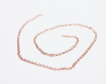 1 x chain rolo rose gold