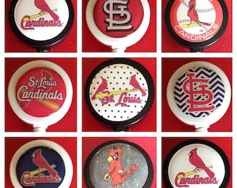 St. Saint Louis Cardinals Baseball ID Badge Name Tag Holder Retractable Reel Perfect For Nurse, RN, CNA, Teacher, Billard Player, Sports